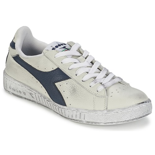 Schoenen Lage sneakers Diadora GAME L LOW WAXED Wit / Blauw