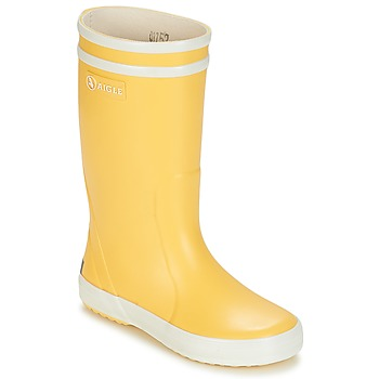 Schoenen Kinderen Regenlaarzen Aigle LOLLY POP Geel / Wit