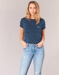 Textiel Dames T-shirts korte mouwen Yurban IHOULOU Marine
