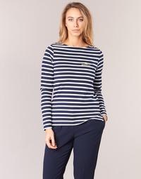 Textiel Dames T-shirts met lange mouwen Betty London IFLIGEME Marine / Wit