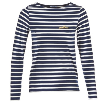 Textiel Dames T-shirts met lange mouwen Betty London FLIGEME Marine / Wit