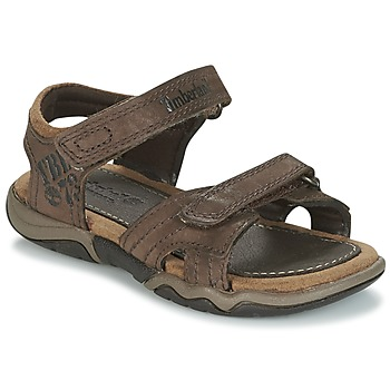 Schoenen Kinderen Outdoorsandalen Timberland OAK BLUFFS LEATHER 2STRAP Brown