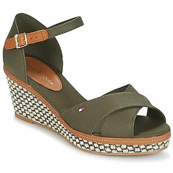 Schoenen Dames Sandalen / Open schoenen Tommy Hilfiger ICONIC ELBA SANDAL BASIC Groen