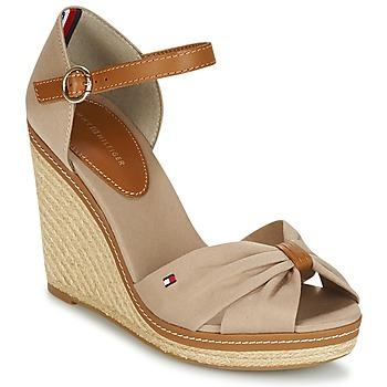 Schoenen Dames Sandalen / Open schoenen Tommy Hilfiger ICONIC ELENA SANDAL Beige