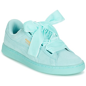 Schoenen Dames Lage sneakers Puma SUEDE HEART RESET WN'S Blauw / Pastel