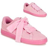 Schoenen Dames Lage sneakers Puma SUEDE HEART RESET WN'S Roze