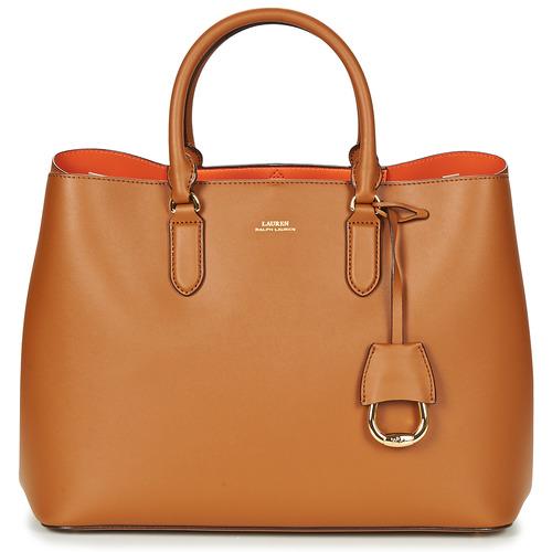 Tassen Dames Handtassen kort hengsel Lauren Ralph Lauren DRYDEN MARCY TOTE Cognac / Orange