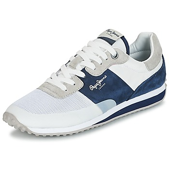 Schoenen Heren Lage sneakers Pepe jeans GARRET SAILOR Wit / Blauw