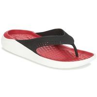 Schoenen Slippers Crocs LITERIDE FLIP Zwart / Rood