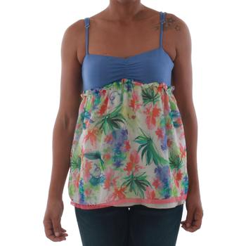 Textiel Dames Mouwloze tops Fornarina VIOLAINE_MULTICOLOR Azul