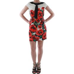 Textiel Dames Korte jurken Rinascimento 1253/16A_ROSSO Blanco