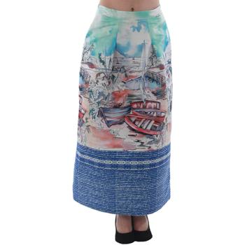 Textiel Dames Rokken Rinascimento 4004/16_CELESTE Estampado