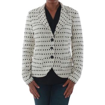 Textiel Dames Jasjes / Blazers Rinascimento 182023_BIANCO Blanco roto