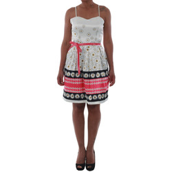Textiel Dames Korte jurken Rinascimento 1384/16M_FUXIA Blanco