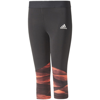 Textiel Meisjes Leggings adidas Performance Training Wrapping 3/4 Tights Jr Zwart