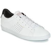 Schoenen Dames Lage sneakers Le Coq Sportif AGATE LO S LEA/SATIN Wit / Zwart