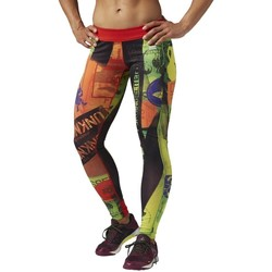 Textiel Leggings Reebok Sport Rcf Chase Tight Primed Vert, Orange, Vert clair