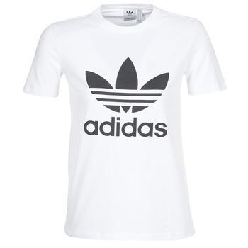 Textiel Dames T-shirts korte mouwen adidas Originals TREFOIL TEE Wit