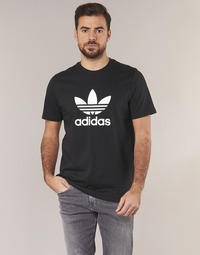 Textiel Heren T-shirts korte mouwen adidas Originals TREFOIL T SHIRT Zwart