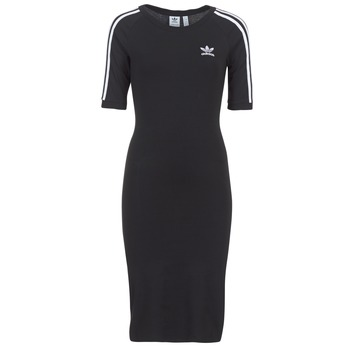 Textiel Dames Korte jurken adidas Originals 4 STRIPES DRESS Zwart