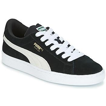 Schoenen Kinderen Lage sneakers Puma SUEDE JR Zwart / Wit