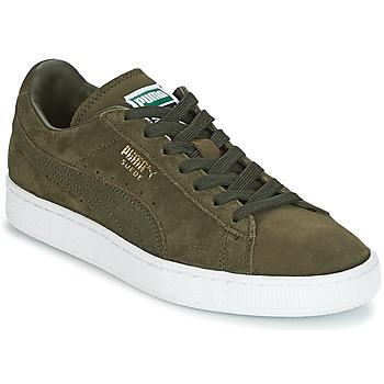 Schoenen Heren Lage sneakers Puma SUEDE CLASSIC + Kaki / Wit