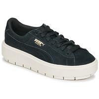 Schoenen Dames Lage sneakers Puma SUEDE PLATFORM TRACE W'S Zwart / Wit