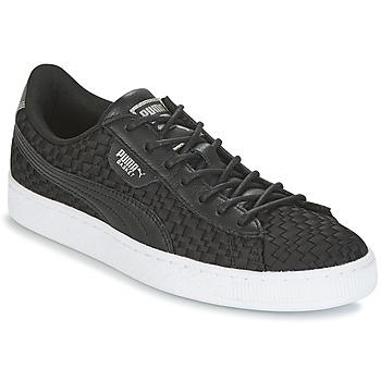 Schoenen Dames Lage sneakers Puma BASKET SATIN EP WN'S Zwart