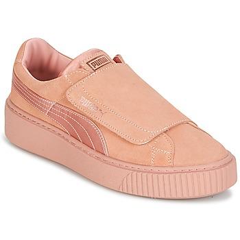 Schoenen Dames Lage sneakers Puma PLATFORMSTRAP SATIN EP W'S Roze