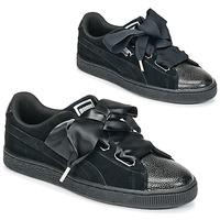 Schoenen Dames Lage sneakers Puma SUEDE HEART BUBBLE W'S Zwart