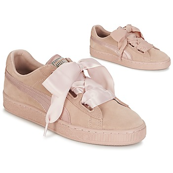 Schoenen Dames Lage sneakers Puma W SUEDE HEART EP Roze