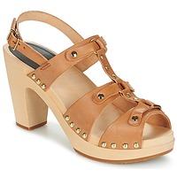 Schoenen Dames Sandalen / Open schoenen Swedish hasbeens BRASSY  camel