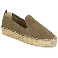 Schoenen Dames Espadrilles 1789 Cala SLIP ON DOUBLE LEATHER Kaki