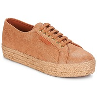 Schoenen Dames Lage sneakers Superga 2730 LAME DEGRADE W Brown / Roze / Gold