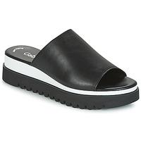 Schoenen Dames Leren slippers Gabor SORIEUX Zwart / Wit