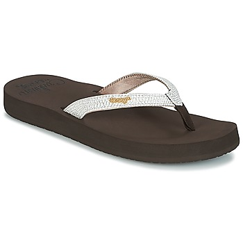 Schoenen Dames Slippers Reef STAR CUSHION SASSY Brown / Wit