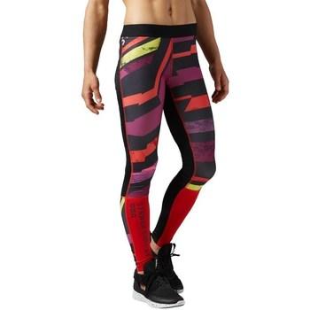 Textiel Dames Leggings Reebok Sport One Series Tight Noir, Rouge, Violet