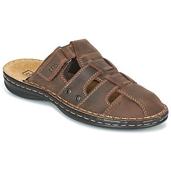 Schoenen Heren Leren slippers TBS BASSOA Brown