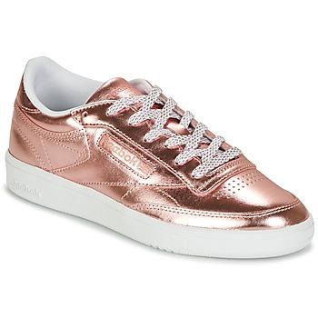 Schoenen Dames Lage sneakers Reebok Classic CLUB C 85 S SHINE Roze / Métal