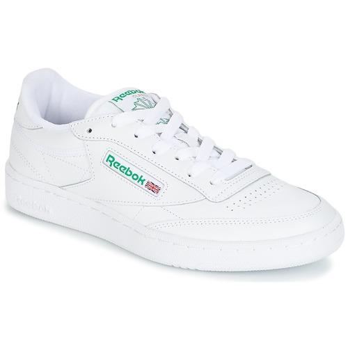Schoenen Lage sneakers Reebok Classic CLUB C 85 Wit / Groen