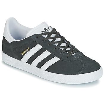 Schoenen Kinderen Lage sneakers adidas Originals GAZELLE J Grijs