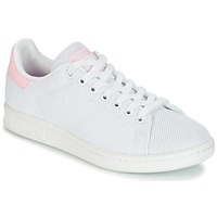 Schoenen Dames Lage sneakers adidas Originals STAN SMITH W Wit / Roze