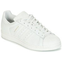 Schoenen Dames Lage sneakers adidas Originals SUPERSTAR Wit / Kristal