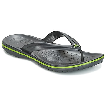 Schoenen Slippers Crocs CROCBAND FLIP Zwart / Groen