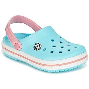 Schoenen Meisjes Klompen Crocs Crocband Clog Kids Blauw / Roze