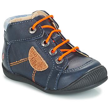 Schoenen Jongens Laarzen GBB RACINE Blauw / Marine