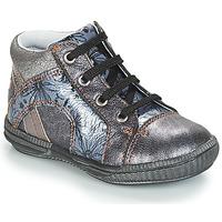 Schoenen Meisjes Laarzen GBB ROSETTA Vnv / Grijs / Bleu-imprime / Dpf / Sabina