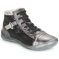 Schoenen Meisjes Hoge sneakers GBB ROMIE Grijs / Zwart