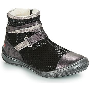 Schoenen Meisjes Laarzen GBB ROCHELLE Zwart / Zilver