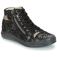 Schoenen Meisjes Laarzen GBB DESTINY Vts / Zwart-goud / Dpf / Edit